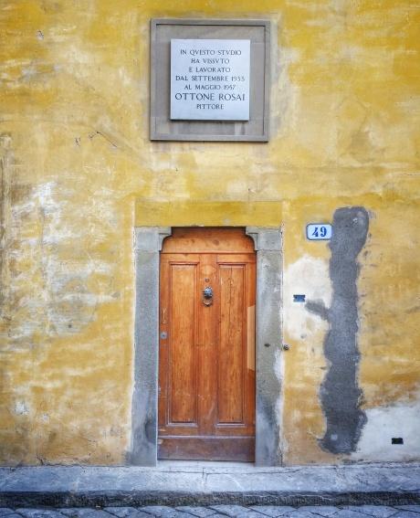 Lo studio di Ottone Rosai lungo via di San Leonardo