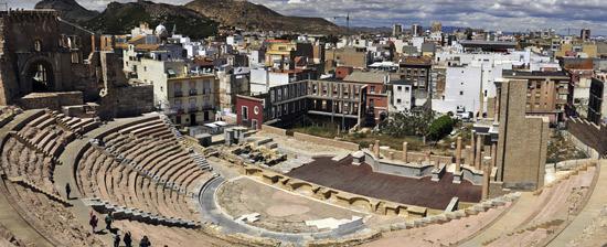 Il teatro romano di Cartagena è spettacolare