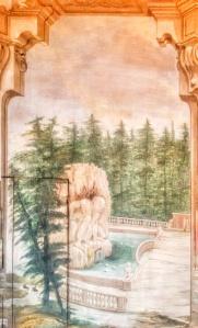 Il Gigante Appennino della villa di Pratolino sulle pareti della sala di Villa La Quiete