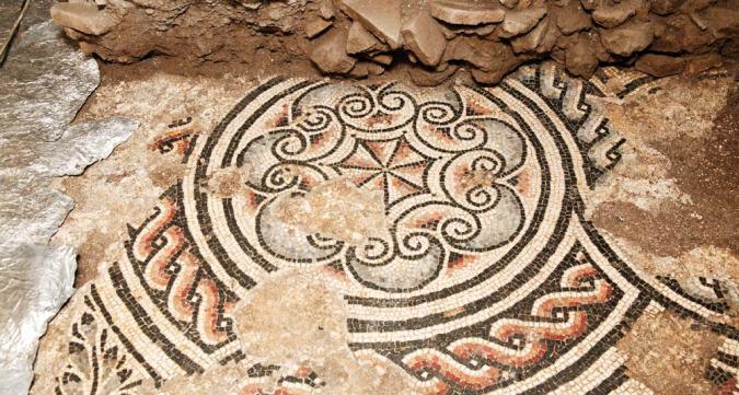 Mosaico pavimentale di una delle domus di Palazzo Valentini
