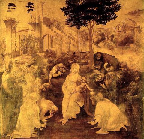 L'Adorazione dei Magi di Leonardo, Uffizi