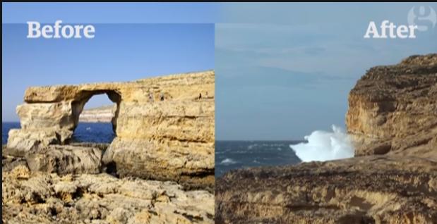 Gozo crollato l azure window maraina in viaggio - Finestra sul mare malta ...